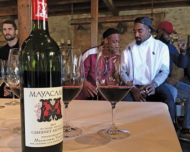 Joueurs de NBA et vin