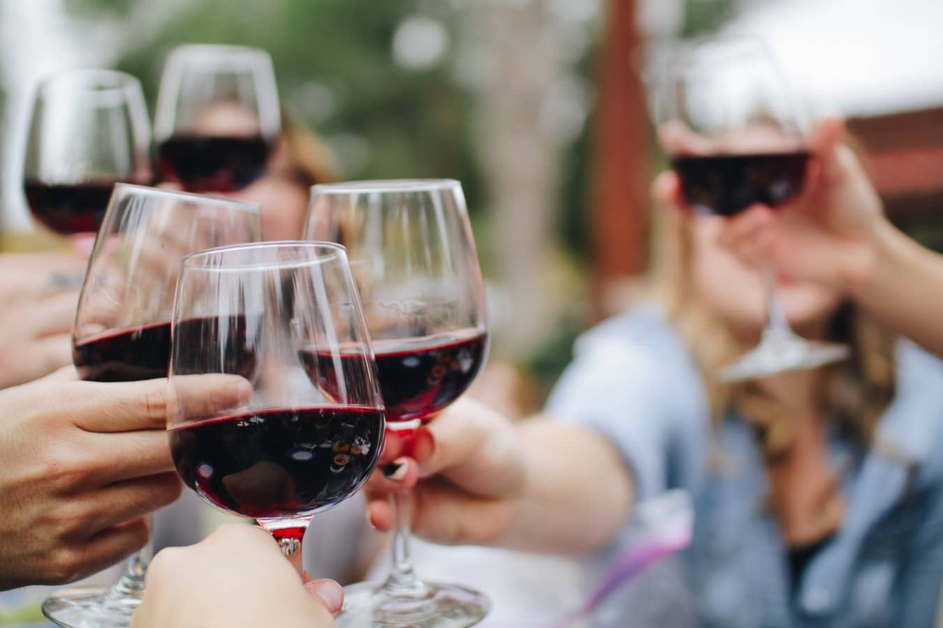 Verres de vin rouge léger